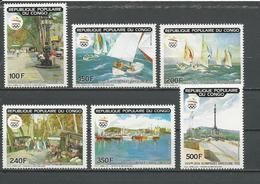 CONGO Scott 860-865 Yvert 885-888 PA403-PA404 (6) ** Cote 14,75 $ 1990 - Congo - Brazzaville