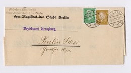 DR Dienstbrief Bezirksamt Kreuzberg MiF 410 411 Perfin O TSt BERLIN 1929 - Deutschland