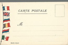 CARTE FRANCHISE MILITAIRE - 14/18 - 6 DRAPEAUX (2) - NON ECRITE - TTB - Marcophilie (Lettres)