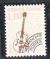France - 1992 - Préoblitéré N°Yvert #213 - Guitare - Dentelé 13 - Neuf Sans Charnière ** / Mint NH - Préoblitérés