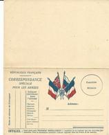 CARTE FRANCHISE MILITAIRE - 14/18 - 4 DRAPEAUX  - CARTE DOUBLE - NON ECRITE - TTBE - Marcophilie (Lettres)