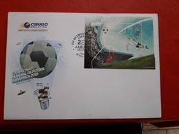L'Argentine FDC Mondial 2010 Un Bloc Avec Hologramme - Fußball-Weltmeisterschaft