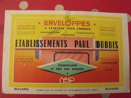 Buvard établissements Paul Dubuis. Enveloppes à Fnêtres Tous Formats. Roanne. Dos Jaune - Papeterie