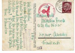 1941 - Carte Expédiée Du Camp De Bad Dürkheim Pour Lisieux (tp N°491)- Cachets De Censure Et De Contrôle - Allemagne