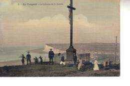 LE TREPORT Le Calvaire De La Falaise ( Jolie Carte Couleur Toilée ) - Le Treport