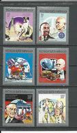 CONGO Scott 959-964 Yvert 949-952 PA411-PA412 (6) ** Cote 13,50 $ 1992 - Congo - Brazzaville