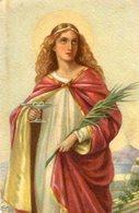 SANTA LUCIA ST. LUCIA CIRCA 1920 POSTAL CARD COLOR -LILHU - Maagd Maria En Madonnas