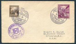 1937 Germany Deutsche Schiffspost Ship Cover. M/S MILWAUKEE Hamburg HAPAG. VERGNUGUNGSREISEN. Iceland Spitzbergen - Deutschland