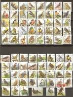 Belgique - Buzin - Oiseaux - Petit Lot De 78 Différents Oblitérés Avec Cachets Ronds (sauf 6) - Recommandé - Timbres