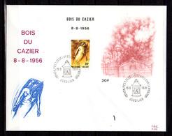 1986   Belgique, FDC, Catastrophe Du« Bois Du Cazier » 252 Coalminers Dead In 1956  Lot Of 4 Différents Cancels - Métiers