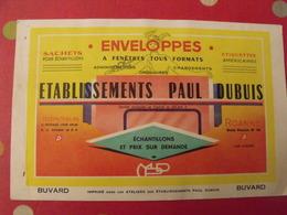 Buvard établissements Paul Dubuis. Enveloppes à Fnêtres Tous Formats. Roanne. Dos Rose - Papeterie