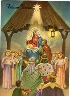 NACIMIENTO DE JESUS NAVIDAD JESUS BIRTH CHRISTMAS CIRCA 1920 POSTAL CARD COLOR -LILHU - Jezus