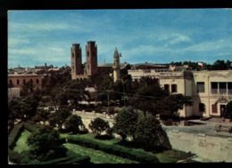 B9260 EX COLONIE ITALIANE - SOMALIA - MOGADISCIO - PANORAMA CON LA MOSCHEA - VIAGGIATA VIA AEREA A ROMA 27.10.1967 - Somalia