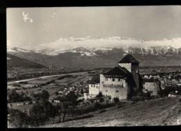 B9261 LIECHTENSTEIN FURSTENTUM - SCHLOSS VADUZ / VADUZ CASTLE CIRCULATED  WITH STAMP 1961 - Liechtenstein