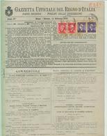 """""""GAZZETTA UFFICIALE DEL REGNO D'ITALIA"""" FOGLIO INSERZIONI, 1946,CON MARCHE DA BOLLO PER CONSULTAZIONE, SACMI, IMOLA,RR - Decreti & Leggi"""