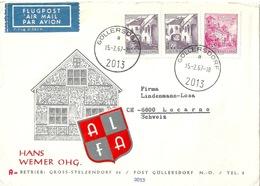"Luftpost Brief  ""ALFA Wemer, Göllersdorf"" - Locarno         1967 - 1945-.... 2a Repubblica"