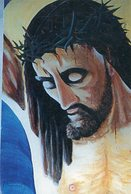 JESUCRISTO CRUCIFICADO CRUCIFIXION JESUS CHRIST CRUCIFIED CIRCA 1920 POSTAL CARD COLOR -LILHU - Jezus