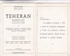 THEHERAN. IMPORTADORES OBJETOS DE ARTE  ALFOMBRAS. TALLER DE REPARACIONES. PUBLICIDAD CIRCA 1930s, BUENOS AIRES- BLEUP - Reclame