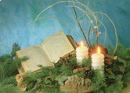 LA BIBLIA HOLY BIBLE PHOTO CIRCA 1960 POSTAL CARD COLOR -LILHU - Christendom