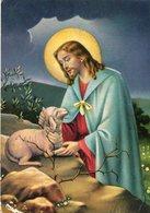 JESUS PASTOR SHEPHERD CIRCA 1920 POSTAL CARD COLOR CIRCULED -LILHU - Jezus