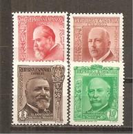 España/Spain-(MNH/**) - Edifil 695-98 - Yvert 540-43 - 1931-50 Nuevos & Fijasellos