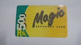 India-magic-ready Recharge Card-(2)-(rs.500)-used Card+1 Card Prepiad Free - India