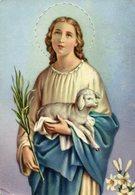 SANTA INES VIRGEN ST. INES VIRGIN CIRCA 1950 POSTAL CARD COLOR -LILHU - Maagd Maria En Madonnas