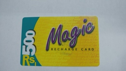 India-magic-ready Recharge Card-(2a)-(rs.500)-(5/2001)-used Card+1 Card Prepiad Free - India