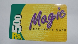 India-magic-ready Recharge Card-(2c)-(rs.500)-(12/2000)-used Card+1 Card Prepiad Free - India