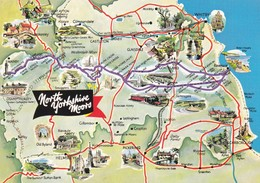 Postcard Map Of North Yorkshire Moors My Ref  B23227 - Maps