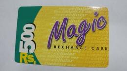 India-magic-ready Recharge Card-(2d)-(rs.500)-(3/2001)-used Card+1 Card Prepiad Free - India
