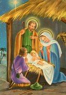 NACIMIENTO DE JESUS NAVIDAD PESEBRE JESUS BIRTH CHRISTMAS MANGER CIRCA 1950 POSTAL CARD COLOR -LILHU - Maagd Maria En Madonnas