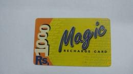India-magic-ready Recharge Card-(3a)-(rs.1000)-used Card+1 Card Prepiad Free - India