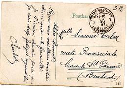 CP De Bingen (29.07.1921) Pour Court Saint Etienne SM Postes Militaires - Guerre 14-18