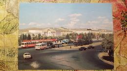 Mongolia. Ulan Bator. Main Street -  OLD USSR PC 1970s TAXI Car - Mongolie
