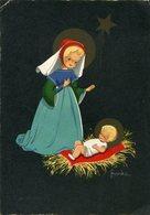 NACIMIENTO DE JESUS NAVIDAD BIRTH OF JESUS CHRISTMAS CIRCA 1920 POSTAL CARD COLOR -LILHU - Jezus