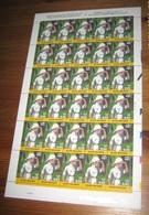 TINTIN / KUIFJE In Congo 3048** Cartoon-Stripfiguurongeplooid (le Feuille BD N'a Pas Eté Plié) Plaatnummer 2 - Full Sheets