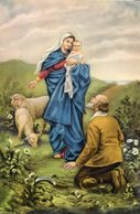NUESTRA SEÑORA DE LA GUARDIA N.S. DELLA GUARDIA CIRCA 1920 POSTAL CARD COLOR -LILHU - Maagd Maria En Madonnas