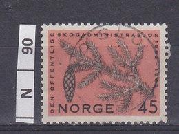 NORVEGIA  1962Amministrazione Forestale 45 Usato - Norvegia