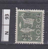 NORVEGIA  1963Pitture  Rupestri 25 Usato - Norvegia