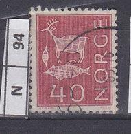 NORVEGIA  1963Pitture  Rupestri 40 Usato - Norvegia