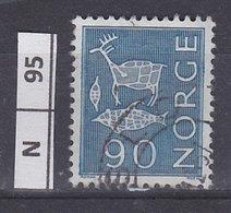 NORVEGIA  1963Pitture  Rupestri 90 Usato - Norvegia