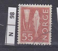 NORVEGIA  1963Pitture  Rupestri 55 Usato - Norvegia