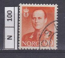 NORVEGIA   1958Re Olav V 40 Usato - Norvegia