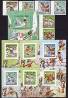 Chad, 1983, Summer Olympics 1984, 1980, 6 Stamps 7 Blocks Imperforated - Summer 1984: Los Angeles