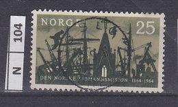 NORVEGIA   1964Missione Gente Di Mare 25 Usato - Norvegia