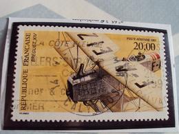 """1960...-POSTE AERIENNE, Oblit, Timbre N°  61    """" Breguet """"cote  2 Net  0.65-dents -13x13.5 - Poste Aérienne"""