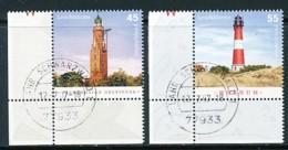 GERMANY Mi. Nr. 2612-2613 Leuchttürme  - Eckrand Unten Links - Used - BRD