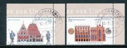 GERMANY Mi. Nr. 2614-2615 UNESCO-Welterbe  - Eckrand Oben Rechts - Used - BRD