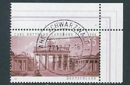 GERMANY Mi. Nr. 2634 275. Geburtstag Von Carl Gotthard Langhans - Eckrand Oben Rechts - Used - BRD